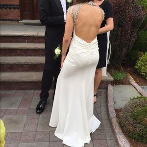 Jovani Dresses - White Jovani dress, bought in 2015, worn only ONCE